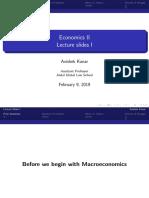 Entry Into Macroeconomy