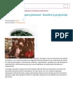 Spirulina (Arthrospira Platensis) - Beneficii Și Proprietăți