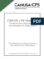 PRODUCTOS PARA REPARACION EN REVESTIMIENTO DE POLIPROPILENO