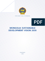 Mongolia Sustainable Development Vision 2030