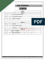New Samacheer - 6th Biology - Term - I, II & III (EM) - 2019