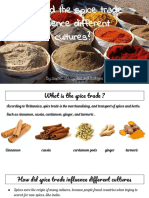 how did the spice trade influence different cultures