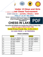 Final u 15 Arca Open and Girls Fide Rated Chess Tournament