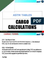 Cargo calculation