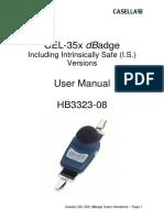 Dozimetrul CEL35X DBadge Handbook English