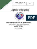 Reglamento Prácticas Pre Profesionales 2018