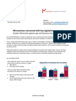 MN Chamber of Commerce and MN Business Partnership 2019  #MNleg Poll Release