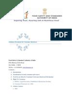 CONSUMER INFORMATION FSSAI.docx