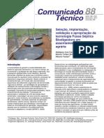 Seleção, implantação, validação e apropriação da tecnologia Fossa Séptica Biodigestora em assentamentos de reforma agrária - EMBRAPA