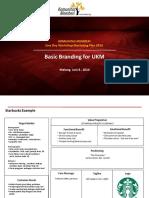 Branding for UKM