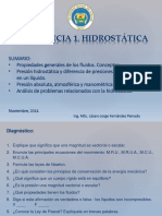 Conferencia 1 de Hidrostática