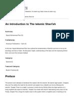 An Introduction to the Islamic Shari'Ah - مقدمه ایی بر شريعت اسلامى - سيد محمد رضوى