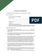 Fu Interest Free Loan Agreement