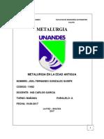 METALURGIA EN LA EDAD ANTIGUA-GONZALES QUISPE JOEL FERNANDO.docx