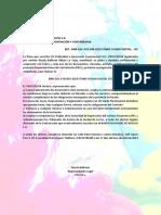 Carta Modelo BNB