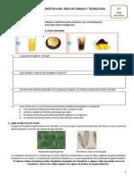 Evaluación diagnóstica CyT - 1º