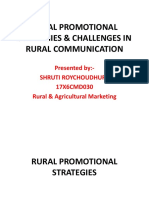 Rural Promotional Strategies & Challenges in Rural Communication