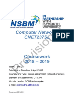 CNET237SL Coursework (Provisional)