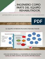 La Ingeniería en Rehabilitación Es La Rama de La Ingeniería Que Busca Implementar Tecnología Tanto en El Proceso Rehabilitador