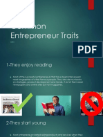 common entrepreneur traits