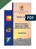 Informe CH Matucana