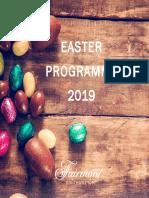 Fairmont Southampton Easter Programme