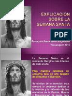 Explicacion Sobre La Semana Santa