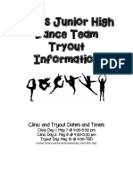 evans junior high dance team tryout information