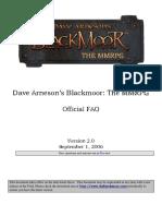 D20 System D&D 3.5 - Dave Arnesons Blackmoor the MMRPG v2.0 - FAQ