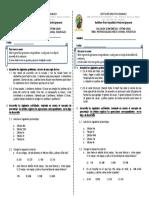 Evaluación tercer periodo matemáticas séptimo grado