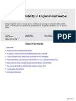 Housing Affordability in England and Wales 2018