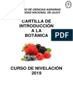 Cartilla de Introduccion a La Botánica 2019