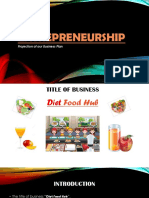 Entraprenership (Diet food Hub)