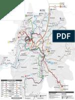 Le plan du réseau Evolity à Montbéliard