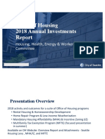 Seattle Office of Housing 2018 Annual Report Presentation