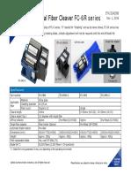 SUMITOMO Fiber Cleaver FC 6R Series Data SheetETK1324238B