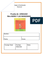 PRUEBA DEL LIBRO BORIS Y LAS MANZANAS