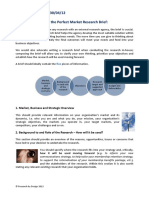 Five Steps to Writing the Perfect Market Research Brief
