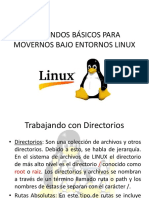 Comandos Básicos Para Movernos Bajo Entornos Linux