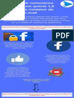Facebook comunicou upload sem querer 1,5 milhão de contatos de e-mail