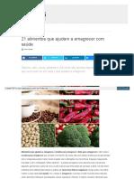 Alimentos Que Ajudar Emagrecer