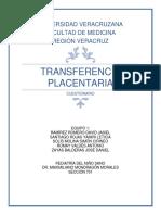 Cuestionario Tema 1 Trnasferencia Placentaria