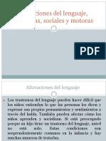 Alteraciones Del Lenguaje, Cognitivas, Sociales y