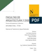 """Informe de Planta de Tratamiento de Aguas Residuales de H.U. """"Villa Costanera"""""""
