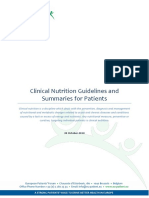 Clinical Nutrition Guidelines and Summaries for Patients 2018