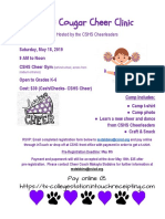 mini cougar cheer clinic flyer