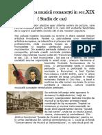 Dezvoltarea Muzicii Romanești in Sec