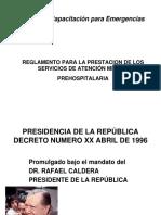 reglamento para la prestación del servicio de emergencia