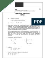 Examen de Matematicq