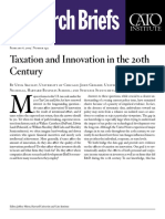 Taxation and Innovation in the 20th Century